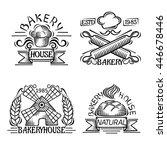 set of vintage bakery labels ... | Shutterstock .eps vector #446678446