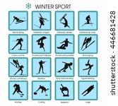 set of vector winter sport   Shutterstock .eps vector #446681428