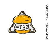 burger logo sticker emblem | Shutterstock .eps vector #446684356