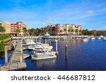 Small photo of Naples Bay marina in florida USA from Tamiami Trail