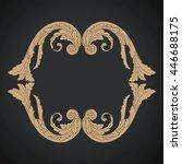 vector set of calligraphic... | Shutterstock .eps vector #446688175