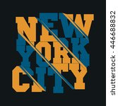 new york typography  t shirt ... | Shutterstock .eps vector #446688832