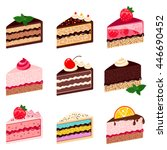 Colorful Sweet Cakes Slices...