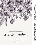 elegant wedding invitations... | Shutterstock .eps vector #446693992