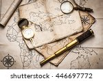 old pirate treasure map | Shutterstock . vector #446697772