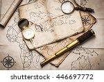 old pirate treasure map | Shutterstock . vector #446697772