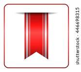 red bookmark banner. vertical... | Shutterstock .eps vector #446698315