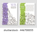vector background with sketches ... | Shutterstock .eps vector #446700055