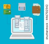 the concept of payment accounts ... | Shutterstock .eps vector #446702542