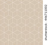 seamless gold colored vector... | Shutterstock .eps vector #446711002
