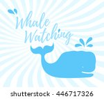 whale watching logo in... | Shutterstock .eps vector #446717326