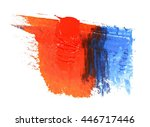 oil paint stroke on white... | Shutterstock . vector #446717446