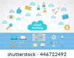 modern line style concept for... | Shutterstock .eps vector #446722492