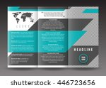 corporate trifold brochure... | Shutterstock .eps vector #446723656