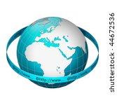 globe earth with www address... | Shutterstock . vector #44672536