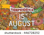 indian independence day theme.... | Shutterstock .eps vector #446728252