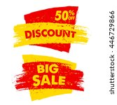 50 percent off discount and big ... | Shutterstock .eps vector #446729866