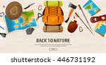 travel tourism vector... | Shutterstock .eps vector #446731192