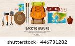travel tourism vector... | Shutterstock .eps vector #446731282