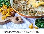 the chanterelle mushrooms.... | Shutterstock . vector #446732182