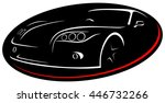 car rent abstract lines vector. ... | Shutterstock .eps vector #446732266