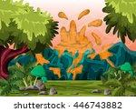 cartoon vector volcano...