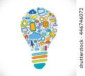 light bulb with communication...   Shutterstock .eps vector #446746072