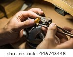 craft jewelery making with... | Shutterstock . vector #446748448