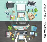workplace vector illustration... | Shutterstock .eps vector #446749102