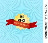 vector golden label with the... | Shutterstock .eps vector #446752672