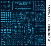 vector pixel icons isolated ... | Shutterstock .eps vector #446753092