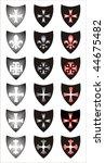 set of heraldic symbols.... | Shutterstock .eps vector #44675482