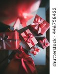 various gift boxes  vintage... | Shutterstock . vector #446758432