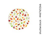 vector collection of fresh... | Shutterstock .eps vector #446765266