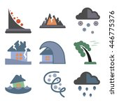 assembly flat icons natural... | Shutterstock .eps vector #446775376