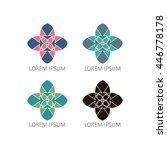 mandalas or geometrical vector... | Shutterstock .eps vector #446778178