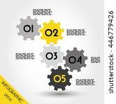 five yellow full infographic... | Shutterstock .eps vector #446779426