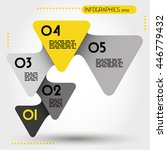 yellow rounded infographic... | Shutterstock .eps vector #446779432