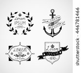 set of hand drawn vintage... | Shutterstock .eps vector #446781466