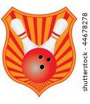 bowling emblem vector | Shutterstock .eps vector #44678278