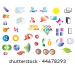 collection of vector icons | Shutterstock .eps vector #44678293