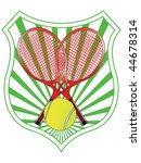 tennis emblem vector | Shutterstock .eps vector #44678314