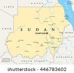 sudan political map with...
