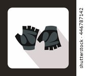 cycling gloves icon in flat... | Shutterstock . vector #446787142