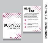 vector brochure flyer design... | Shutterstock .eps vector #446788642