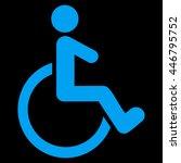 wheelchair vector icon. style...   Shutterstock .eps vector #446795752