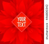 vector red banner on floral...   Shutterstock .eps vector #446800342