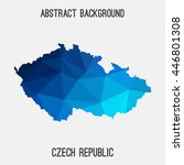 czech republic map in geometric ... | Shutterstock .eps vector #446801308