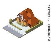 vector isometric suburban... | Shutterstock .eps vector #446801662