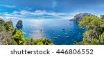 capri island in a beautiful... | Shutterstock . vector #446806552
